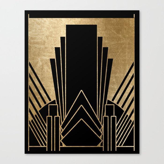 Art deco design Leinwanddruck