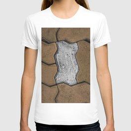 Silver Foil Tape Brick in Sidewalk; Laos, w/ Jesse Bercowetz T-shirt