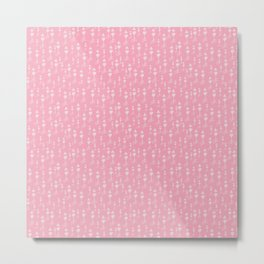 Pink Arrows and Hearts Playful Pink Pattern Metal Print