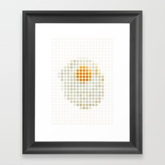 and egg. Framed Art Print