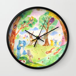 Merry forest Wall Clock