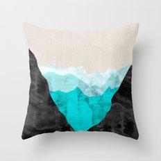 Minimalist landscape watercolor VIII Throw Pillow