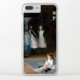 John Singer Sargent The Daughters of Edward Darley Boit 1882 Clear iPhone Case