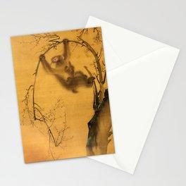 Monkeys in a Cherry Tree - Vintage Japanese Art Print Stationery Cards