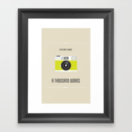 A Picture's Worth Framed Art Print