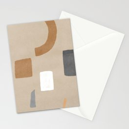 Relaxed abstract shapes Stationery Cards