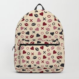 Hearts and kisses pattern Backpack