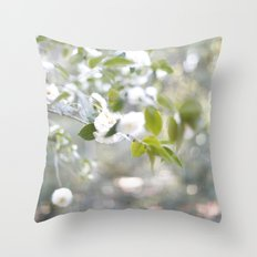 white garden Throw Pillow
