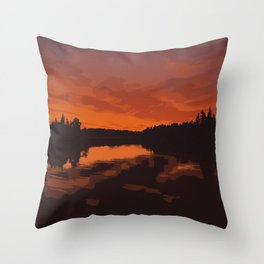 Nopiming Provincial Park Poster Throw Pillow