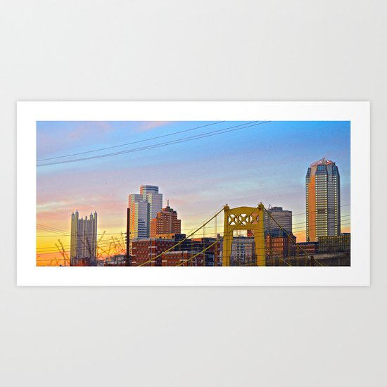 Sunset from the Southside Art Print