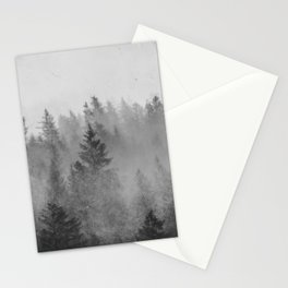 Black and White Forest Abstract Stationery Cards