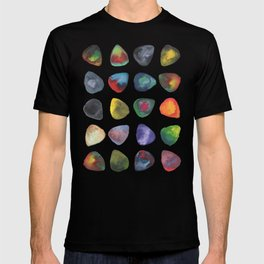Guitar Picks Watercolor T-shirt