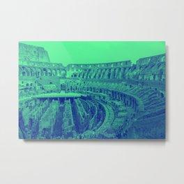 Neon Colosseum Metal Print