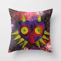 majora Throw Pillows featuring Majora by Bradley Bailey