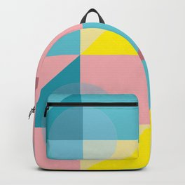 Pastel colours geometrical pattern Backpack