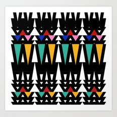 Tribal Fun 2 Art Print