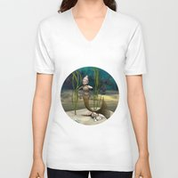 little mermaid V-neck T-shirts featuring Little Mermaid by Design Windmill