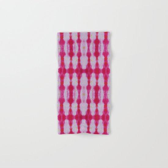 Fuchsia Tie Dye Stripe 1 Hand & Bath Towel