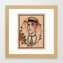 Sherlock Holmes in Retirement Framed Art Print