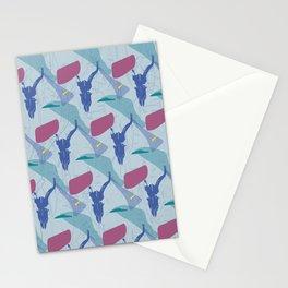 Pattern impala skull Stationery Cards