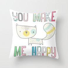 make me happy Throw Pillow