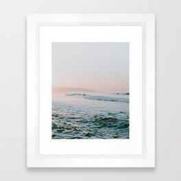 summer waves Framed Art Print