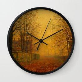 John Atkinson Grimshaw - Evening Glow - Victorian Retro Vintage Painting Wall Clock