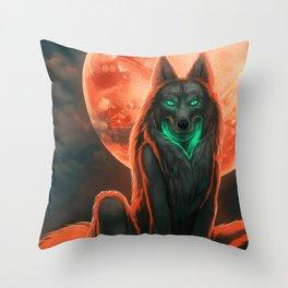 Werewolf (#Drawlloween2016 Series) Throw Pillow
