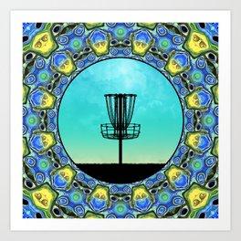 Disc Golf Abstract Basket 5 Art Print