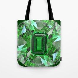 EMERALD GREEN MAY BIRTHSTONES ART Tote Bag