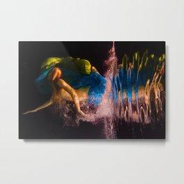 Underwater Turmoil Metal Print