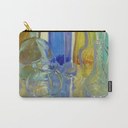 Colored Glass in Blue and Gold Carry-All Pouch