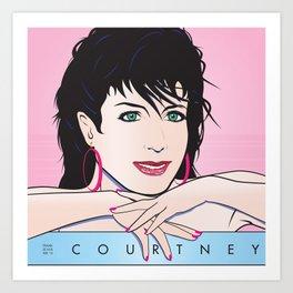 Beautiful Pop Art Woman Courtney from Santa Cruz Art Print