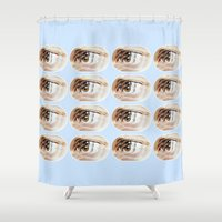 brand new Shower Curtains featuring Brand New Ice Tea by mofart photomontages