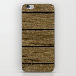 rustic wood planks iPhone Skin