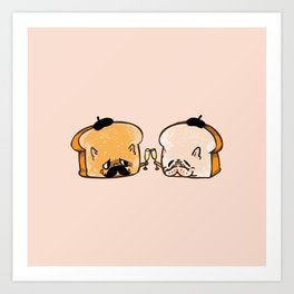 Frenchie Toast Art Print
