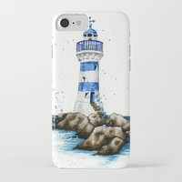 lighthouse iPhone & iPod Cases featuring Lighthouse by Priscilla George