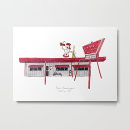 The Austin Collection: Fran's Hamburgers Metal Print