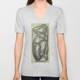 Not a Spiritual by Iver Rose WPA Era Social Realism African American Lithograph Unisex V-Neck