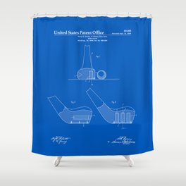 Golf Club Patent - Blueprint Shower Curtain