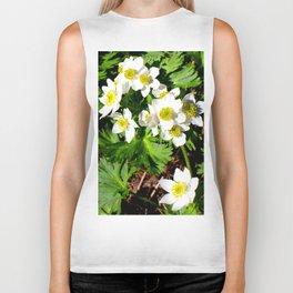 Small White Flowers #society6 #decor #buyart Biker Tank