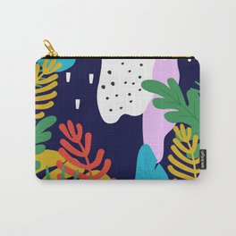 ABSTRACT TROPICAL JUNGLE RAINFOREST PATTERN Carry-All Pouch