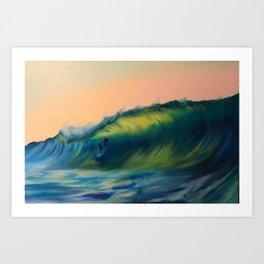 Sun down surf's up Art Print