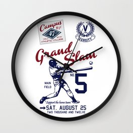Varsity Baseball Team - Grand Slam Wall Clock