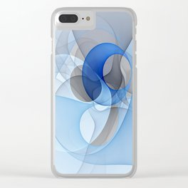 Abstract with Shades of Blue Clear iPhone Case