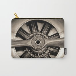 Aviation Decor, Vintage Propeller, Airplane Art Carry-All Pouch