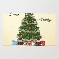 christmas tree Area & Throw Rugs featuring Christmas Tree by haroulita