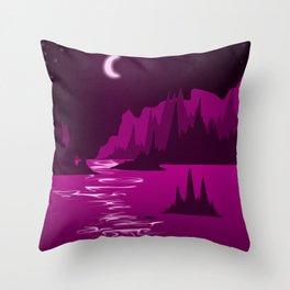 Maroon Sea Throw Pillow