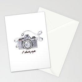 I Shoot People Camera Photography Stationery Cards
