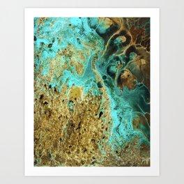 Sapphire Diver Art Print